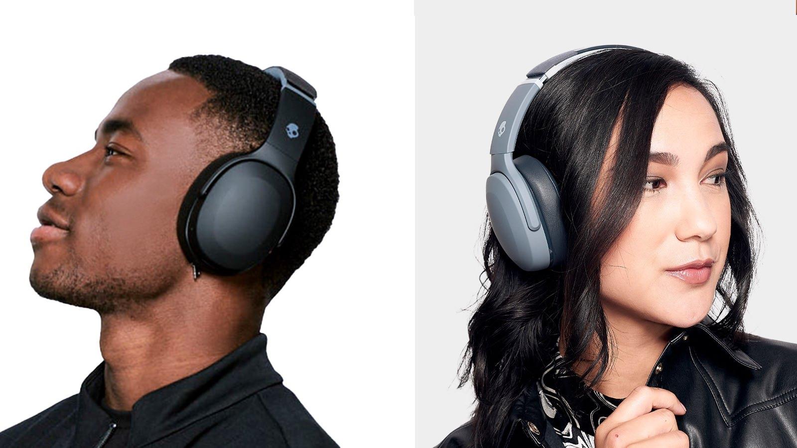 Skullcandy Crusher Evo Wireless Headphones in True Black and Chill Grey