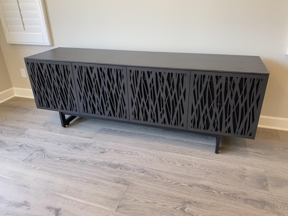 BDI Elements 8779 Wheat Charcoal Media Console In Room