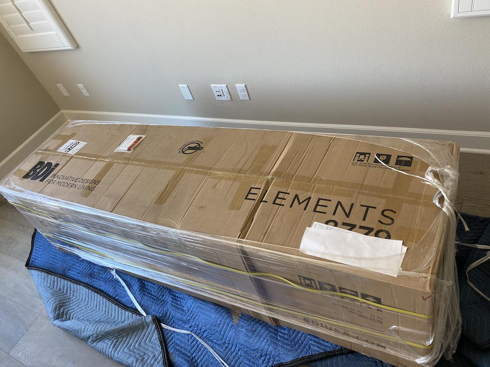 BDI Elements 8779 Wheat Charcoal Media Console in the Box
