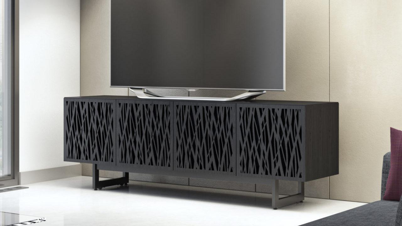 BDI Elements 8779 Wheat Charcoal Media Console with TV in Room