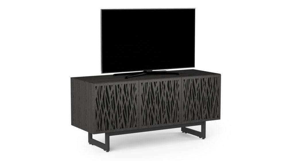 BDI Elements 8777 Wheat Charcoal Three Door Media Console with TV