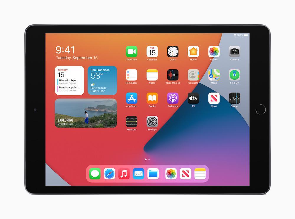Apple iPad 8th Gen iPadOS 14 Widgets