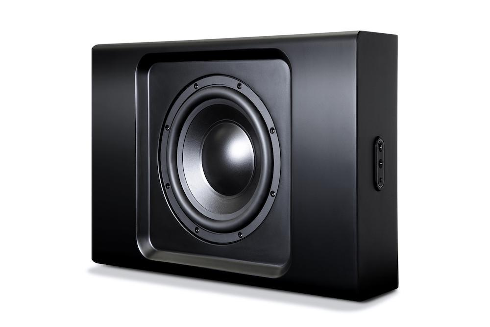 Bluesound Pulse SUB+ Wireless Subwoofer (Black) Grille Off Angle View
