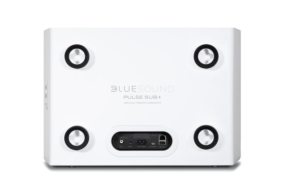 Bluesound Pulse SUB+ Wireless Subwoofer (White) Rear View