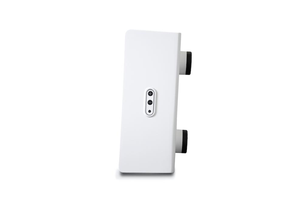 Bluesound Pulse SUB+ Wireless Subwoofer (White) Side View
