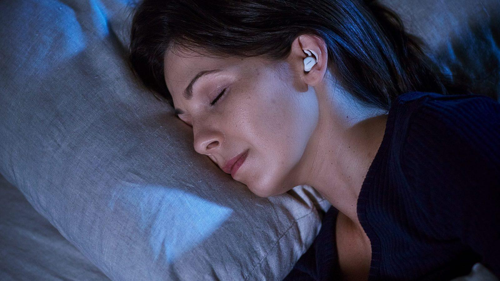 Bose Sleepbuds II on woman sleeping
