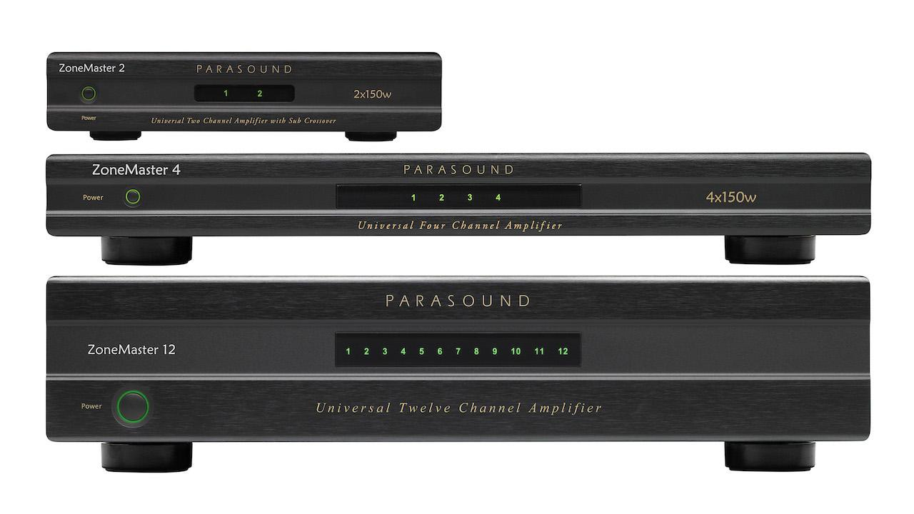 Parasound ZoneMaster 2, 4 and 12 Amplifiers (ZM 2, ZM 4, ZM 12)