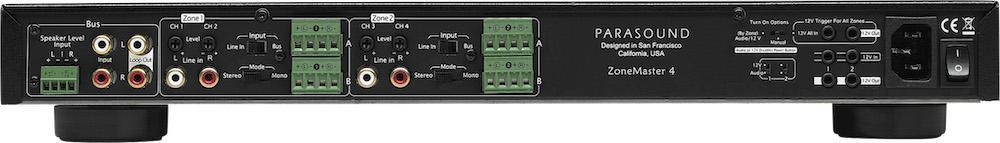 Parasound ZoneMaster 4 Amplifier Rear View