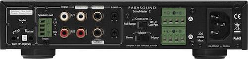 Parasound ZoneMaster 2 Amplifier Rear View