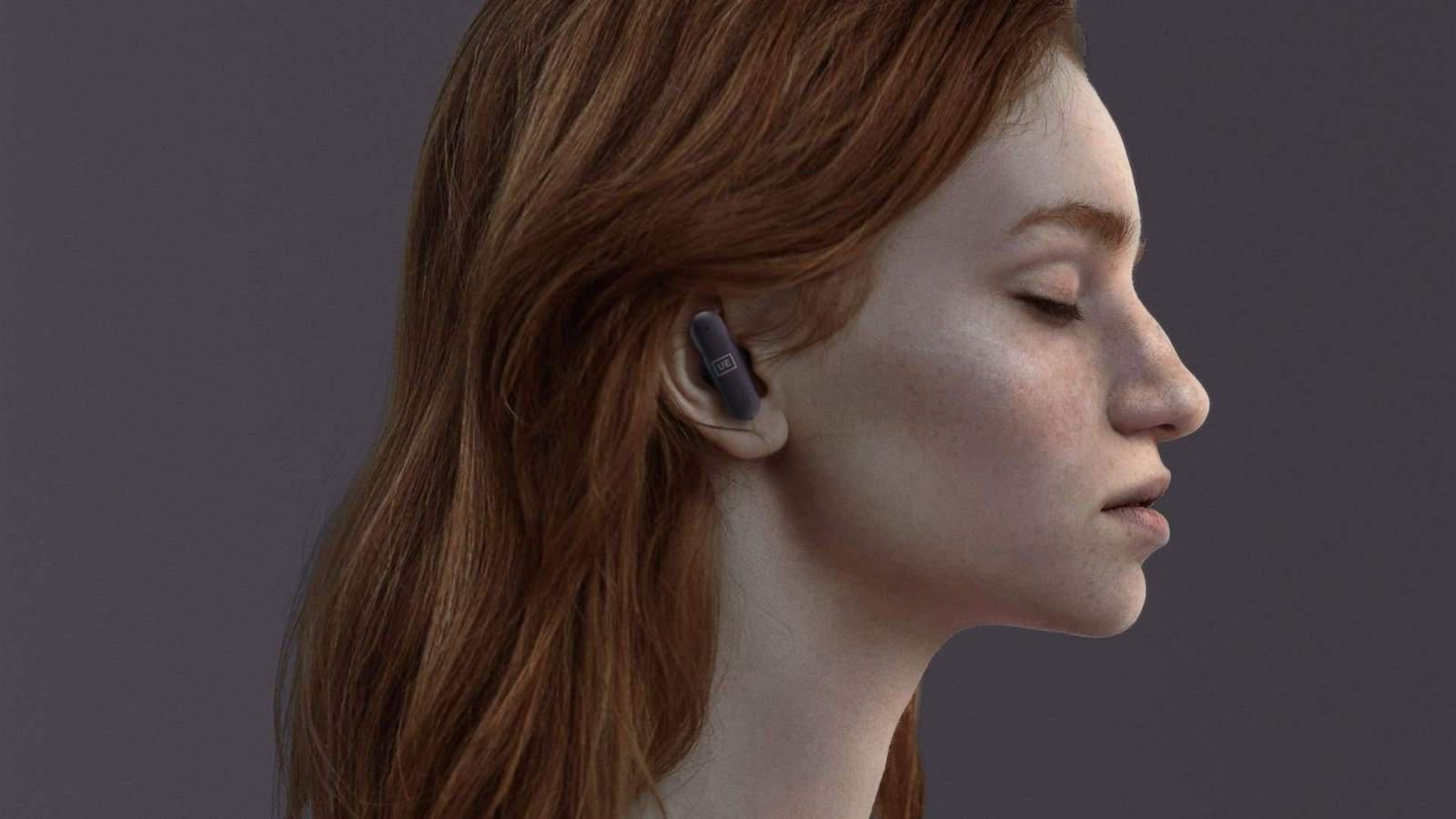 UE FITS Earphone on woman