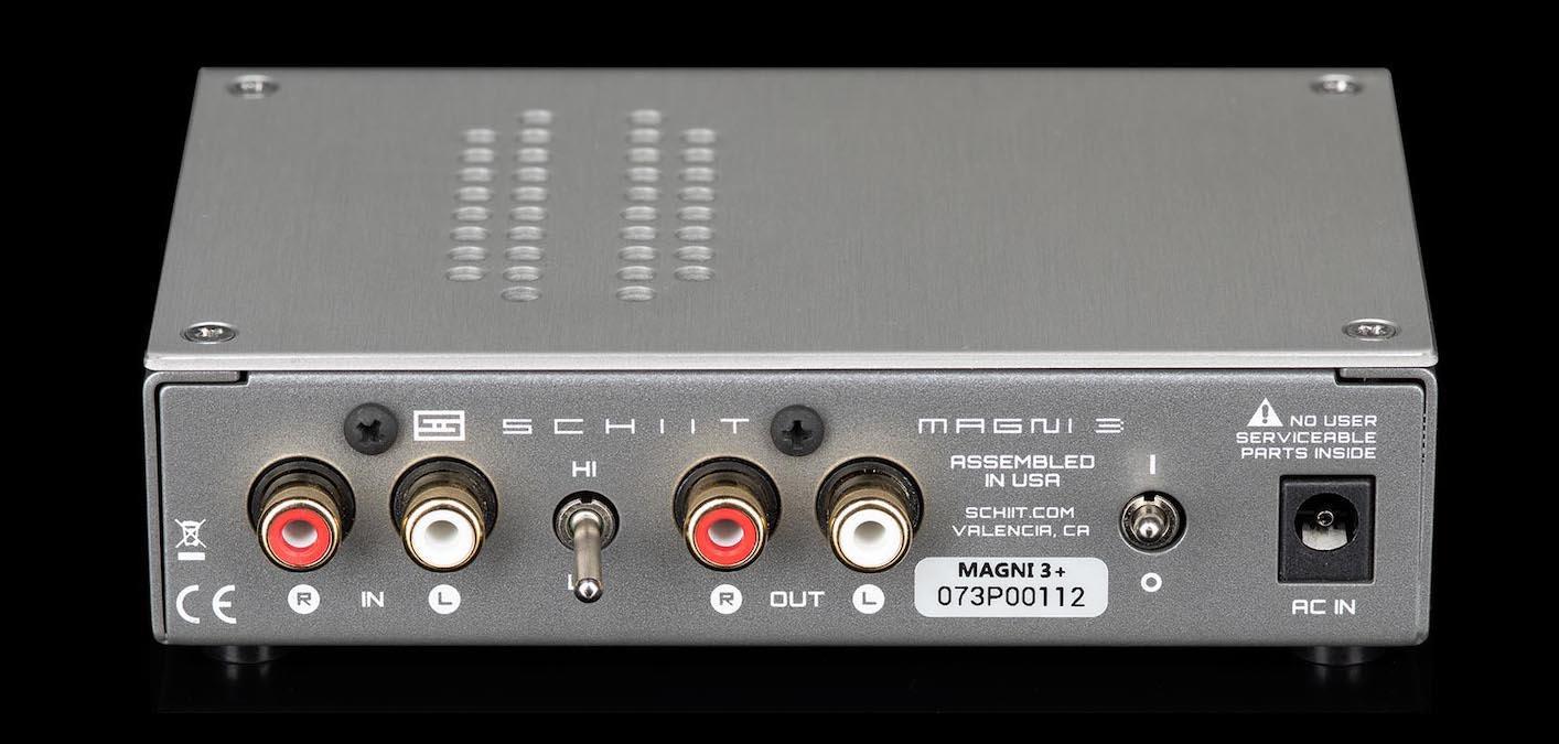 Schiit Audio Magni 3+ Headphone Amplifier Rear View