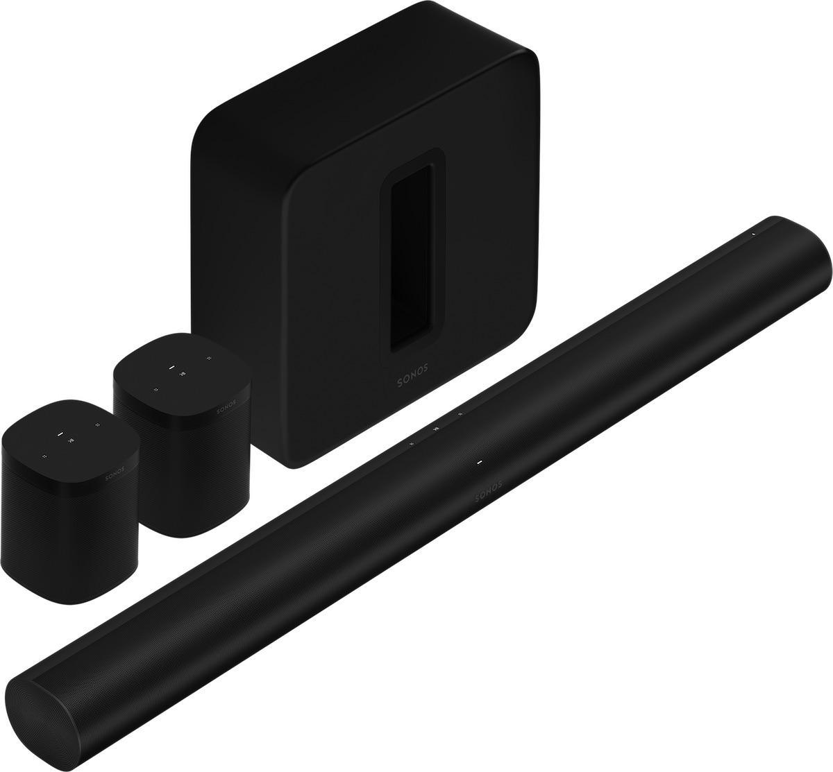Sonos Arc Soundbar with Sub and One SL Speakers