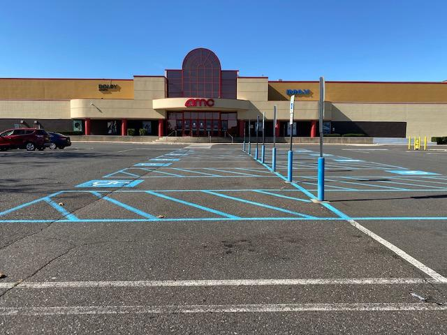 Empty AMC Movie Theater Parking Lot in NJ