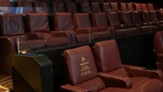 Empty Seats in AMC Movie Theater in NJ