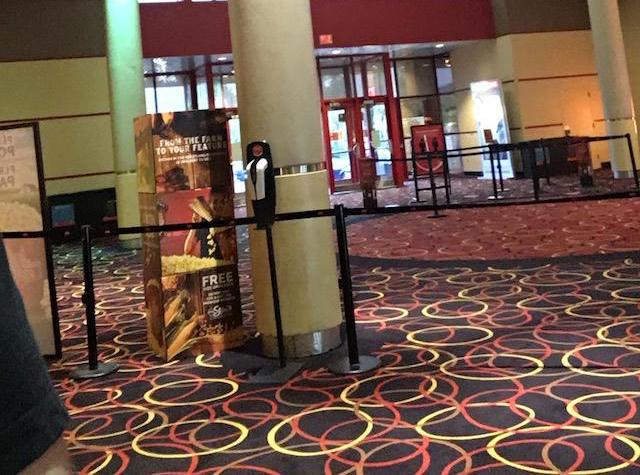 AMC Movie Theater Entrance in NJ during COVID-19