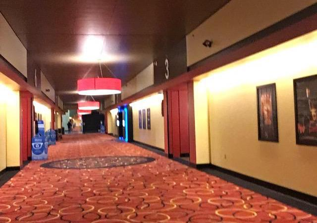 No people in AMC Movie Theater in NJ