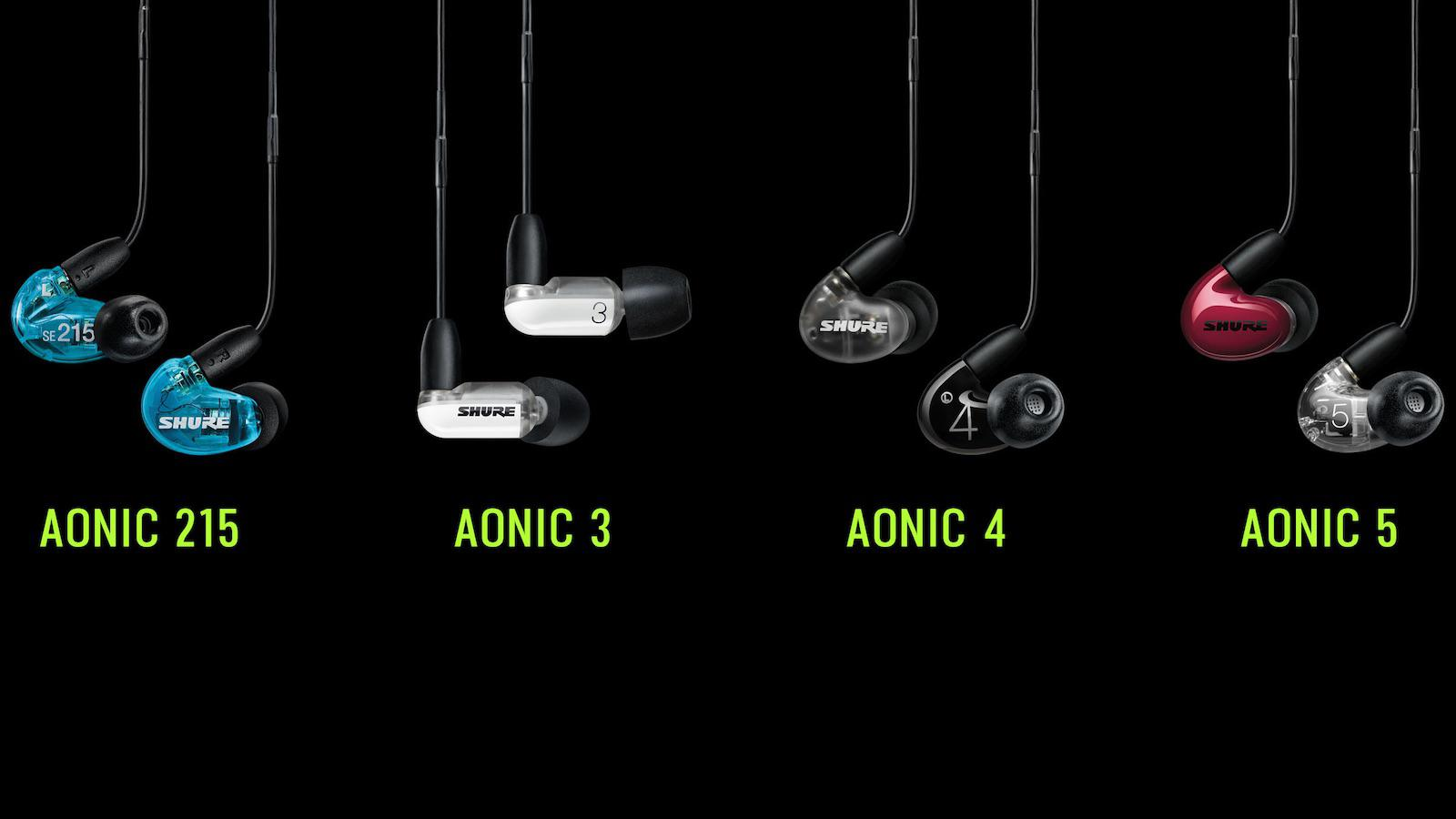 Shure AONIC 215, 3, 4, 5 In-ear Headphones