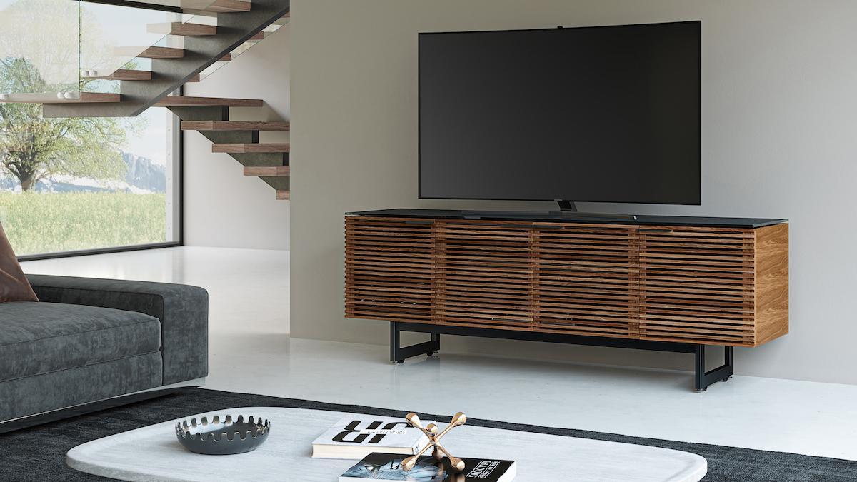 BDI Corridor 8179 Modern TV Cabinet Natural Walnut Finish