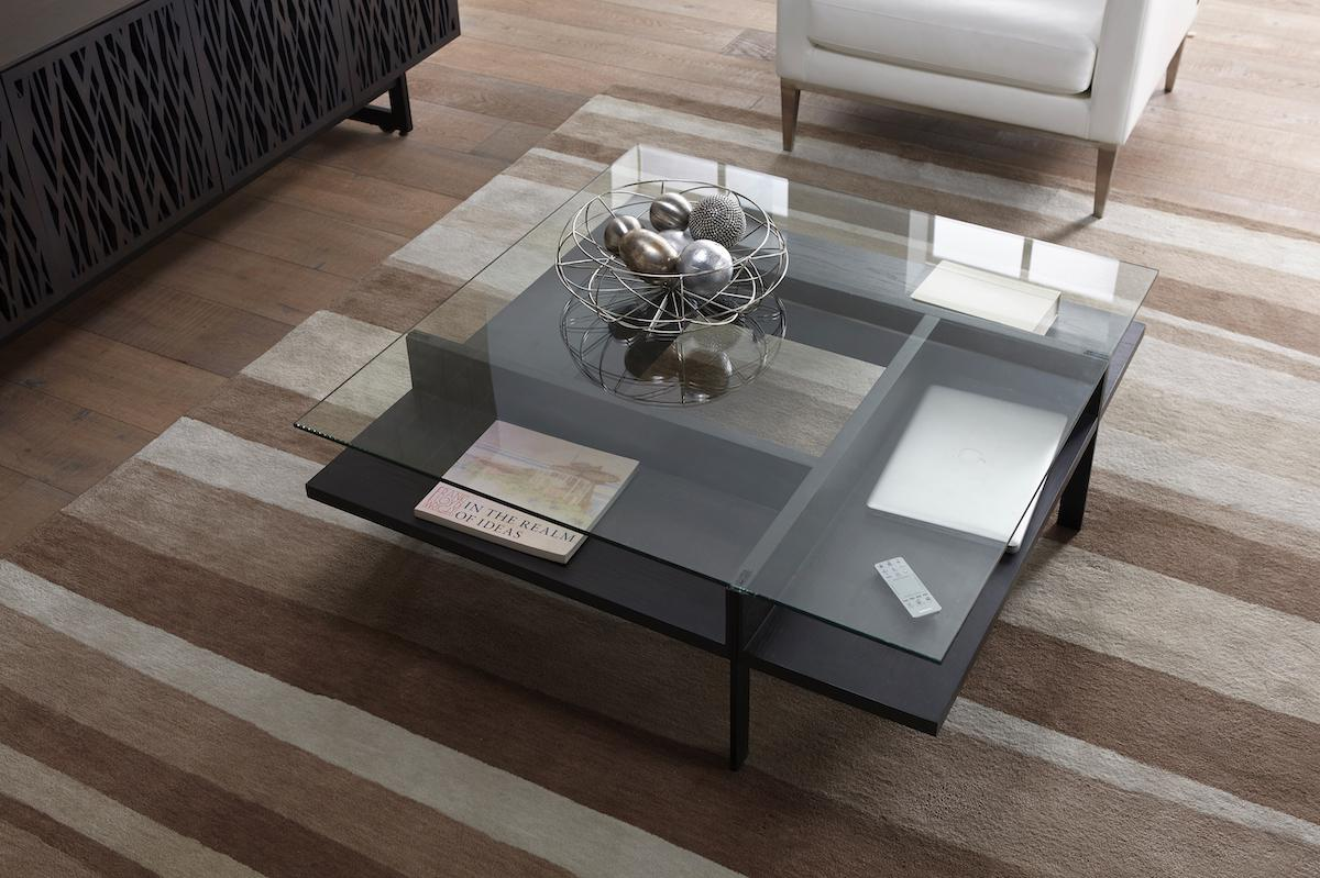 BDI Terrace 1150 Coffee Table in Charcoal Stained Ash