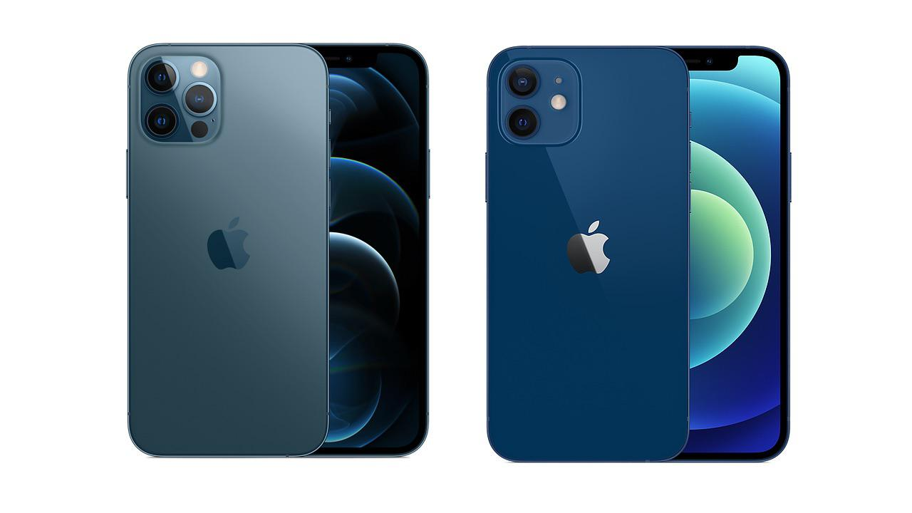 Apple iPhone 12 Pro and iPhone 12 (2020) in Blue