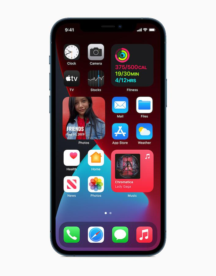 Apple iPhone 12 Pro (2020) showing iOS 14 Home Screen
