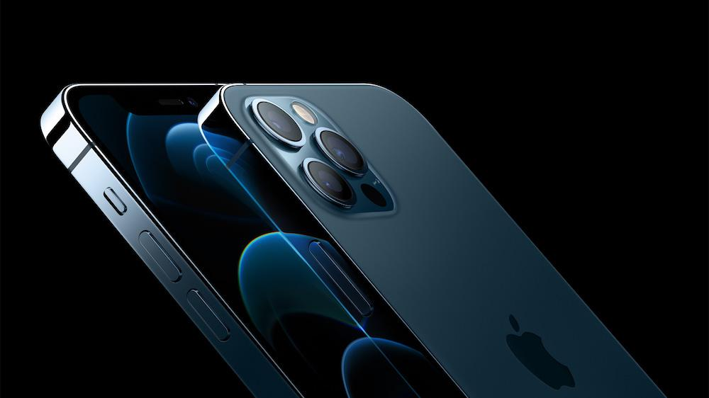 Apple iPhone 12 Pro (2020) Back Side Angle Cameras Pacific Blue