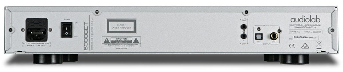 Audiolab 6000CDT CD Player Rear View