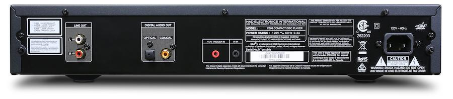 NAD C 568 CD Player Rear View