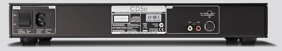 Naim Audio CD5si CD Player Rear View