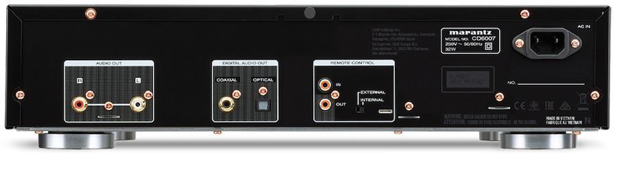 Marantz CD6007 CD Player Rear View