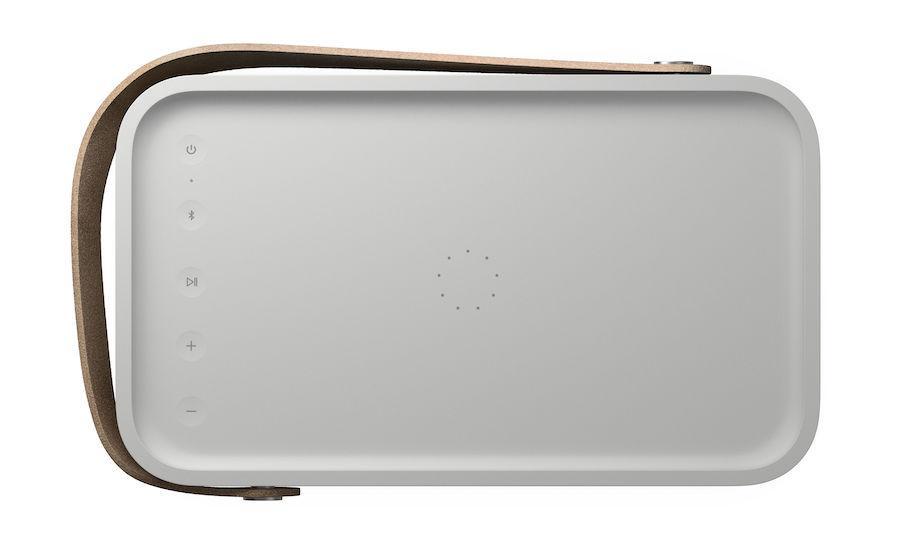 Bang & Olufsen Beolit 20 portable Bluetooth Speaker Top view in Grey Mist