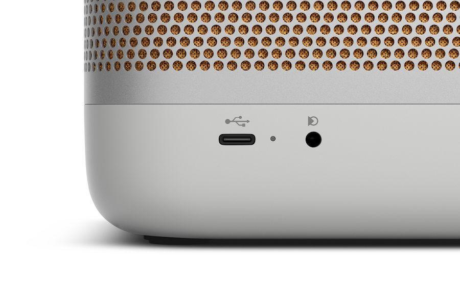 Bang & Olufsen Beolit 20 portable Bluetooth Speaker Ports in Grey Mist