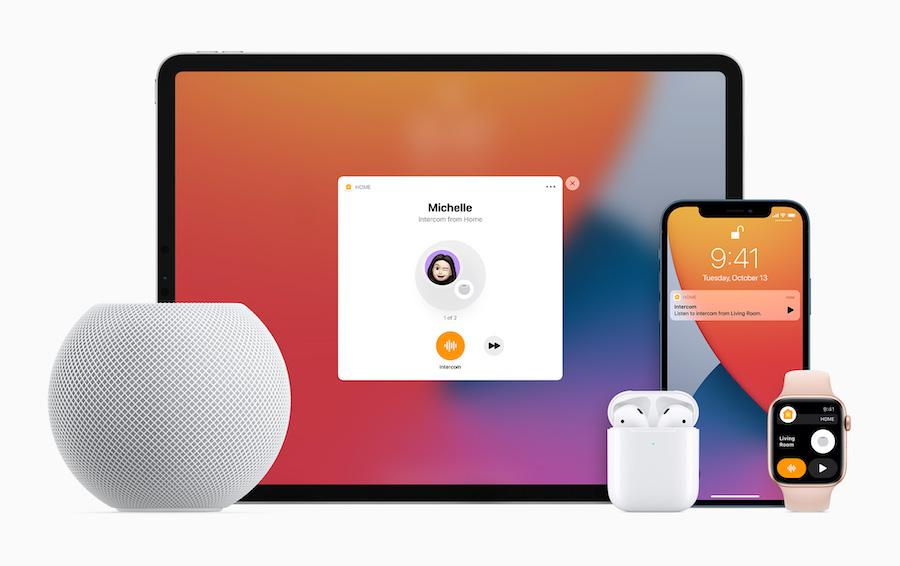 Apple HomePod mini (2020) with iPhone, iPad, Watch, and AirPods