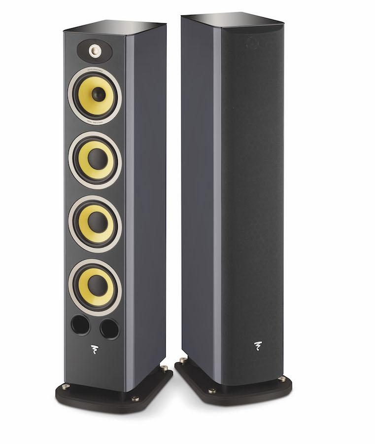 Focal Aria K2 936 Floorstanding Loudspeakers in Ash Grey with/without grilles