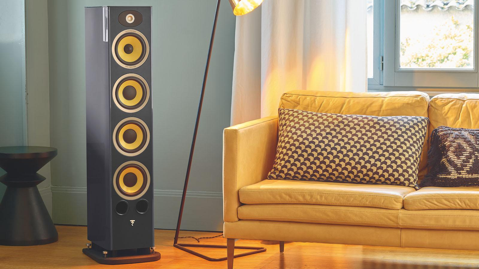 Focal Aria K2 936 Floorstanding Loudspeakers in Ash Grey Lifestyle Photo