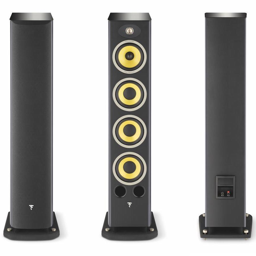 Focal Aria K2 936 Floorstanding Loudspeakers in Ash Grey Front and Back with/without Grilles