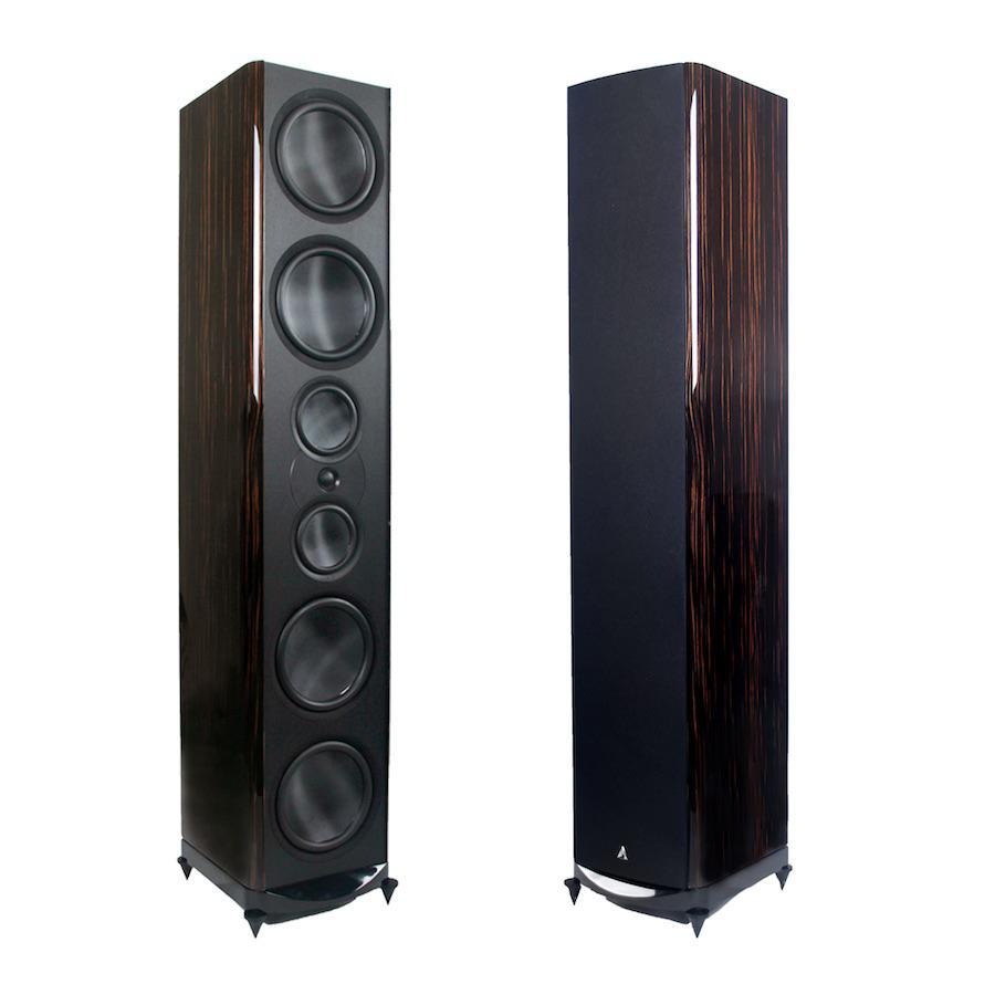 Atlantic Technology 8600eLR Tower Speakers in Makassar Ebony
