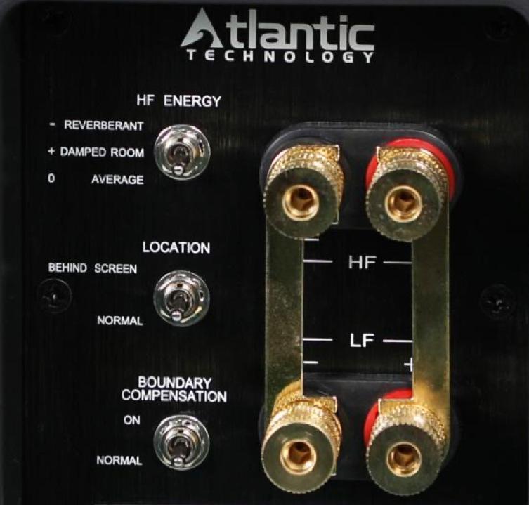 Atlantic Technology 8600elr Tower Speaker Rear Switches