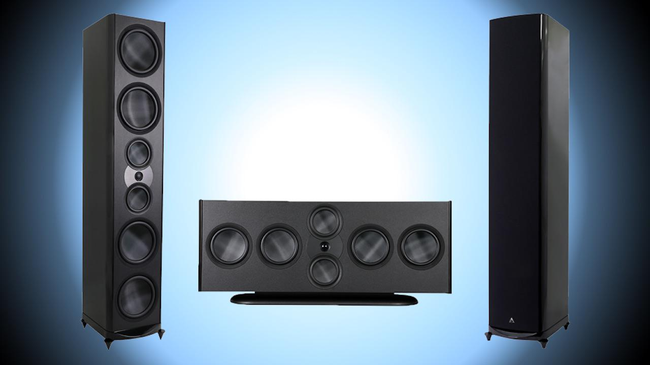 Atlantic Technology 8600elr tower loudspeakers and 8600eC center speaker