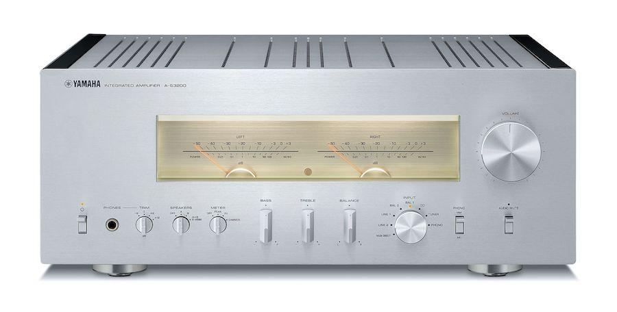 Yamaha A-S3200 Integrated Amplifier Front view in silver