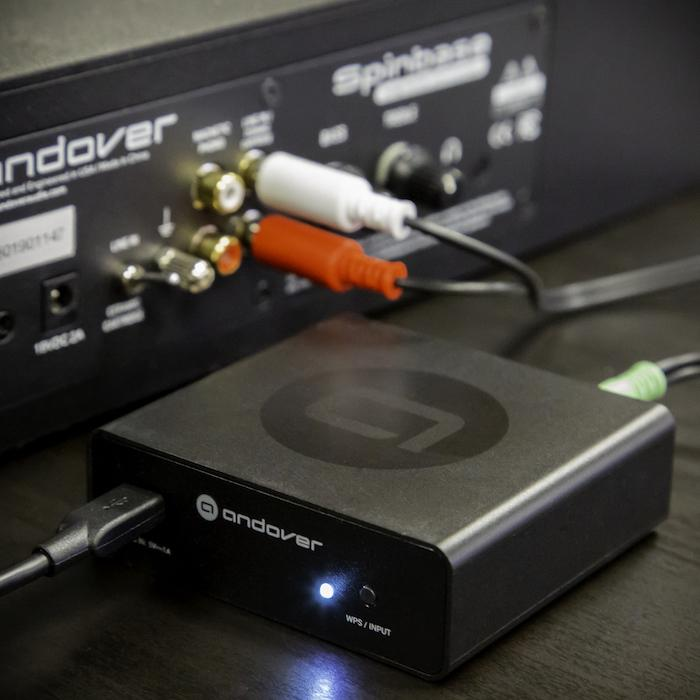 Andover Audio Songbird Internet Streamer Connected to Spinbase