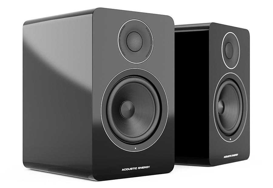 Pair of Acoustic Energy AE1 Active Speakers in Black without grille
