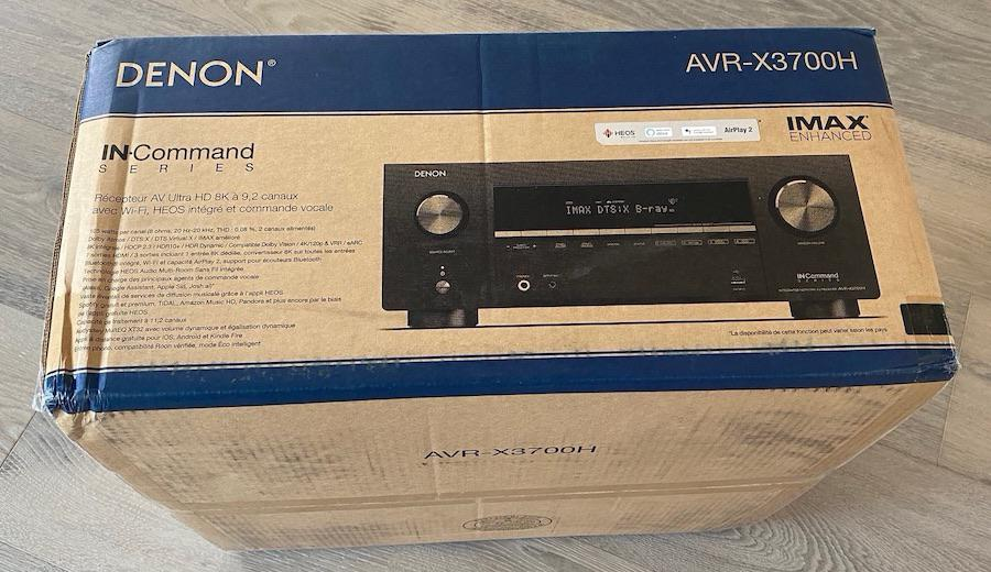 Denon AVR-X3700H A/V Receiver Box Side