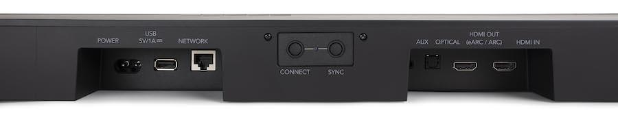 Definitive Technology Studio 3D Mini Sound Bar Rear Closeup