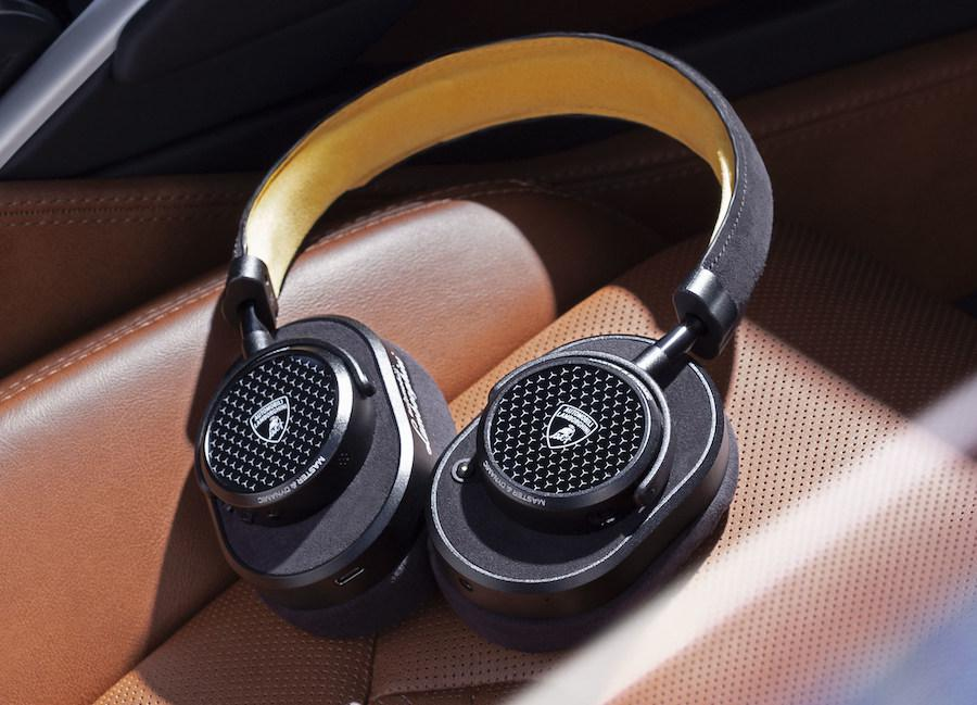 Master & Dynamic MW65 Lamborghini Over-Ear Headphones in Black and Yellow