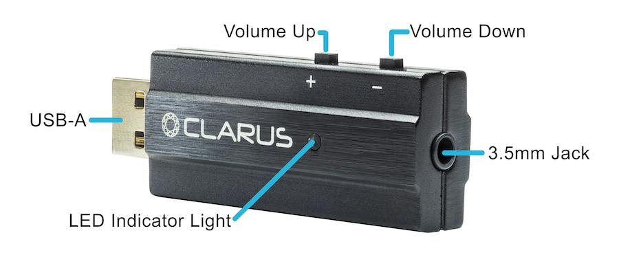 Clarus Coda USB DAC Controls Labeled