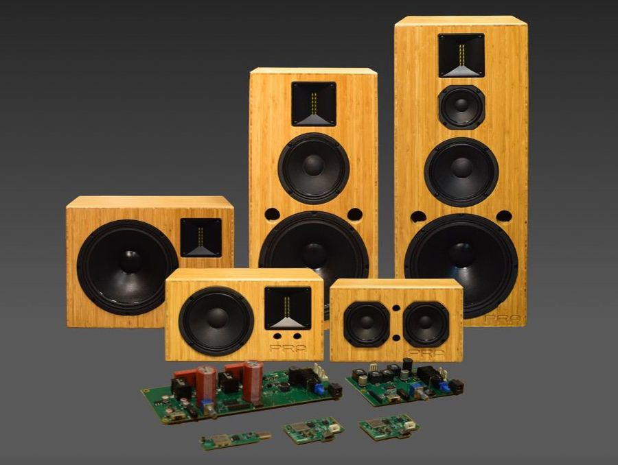 Audality S Series wireless speaker system and internal parts