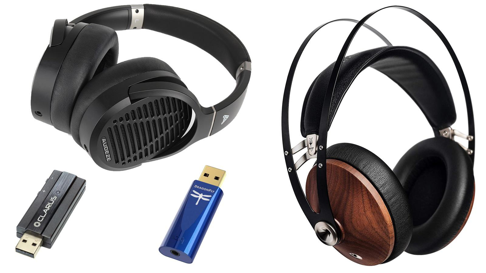 Audeze LCD-1 and Meze Audio 99 Classics Headphones with Clarus CODA and Audioquest Dragonfly Cobalt USB DACs