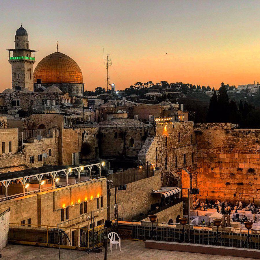 Old City Jerusalem Sunset