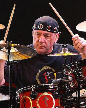 Neil Peart on drums